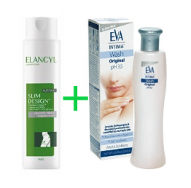Elancyl Slim Design Night 200ml+Δώρο Eva Intima Wash Original 250ml