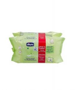 Chicco Baby Moments Cleansing Wipes, 2x72pcs
