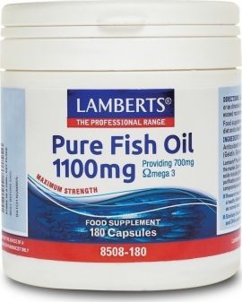 Lamberts Pure Fish Oil 1100mgr (EPA) 180 caps (Ω3)