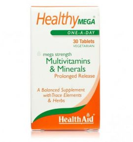 Health Aid Healthy Mega Multivitamins & minerals, 30 tabs