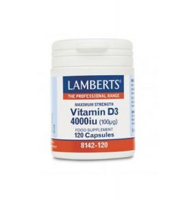 Lamberts Vitamin D3 4000iu (100mg) 120caps