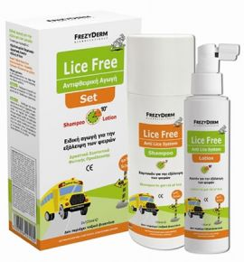 Frezyderm Lice Free Set Shampoo 125ml + Lotion 125 ml
