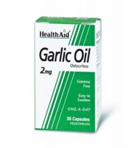 Health Aid Garlic Oil 2mg odourless 30 veg.caps