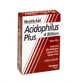 Health Aid Acidophilus Plus 4 Billion 30veg.caps
