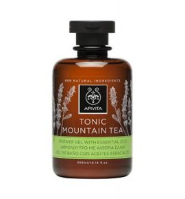 Apivita Tonic Mountain Tea Shower Gel with Essential Oils 300ml