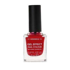 Korres Gel Effect Βερνίκι Νυχιών Rosy Red No51 11ml