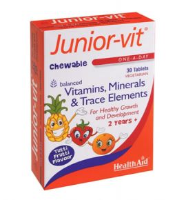 Health Aid Junior Vit Children's Chewable 30 Tabs